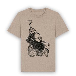 Bedrucktes Herren T-Shirt aus Bio-Baumwolle KAFFEEKLATSCH - karlskopf