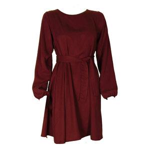 Tencel Kleid Una in berry/ violett mit floralem Rückeneinsatz - ManduTrap