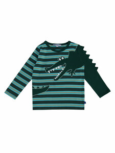 Enfant Terrible Kinder Langarm-Streifenshirt Krokodil Bio-Baumwolle - Enfant Terrible