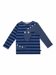 Enfant Terrible Kinder Langarm-Streifenshirt Dino Bio-Baumwolle - Enfant Terrible