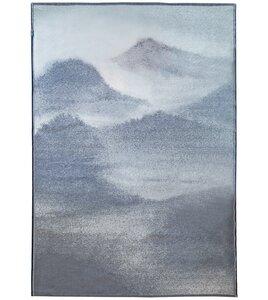 "Teppich Goliath ""Berge"" mit Saum, aus Recycling-Baumwolle - David Fussenegger"