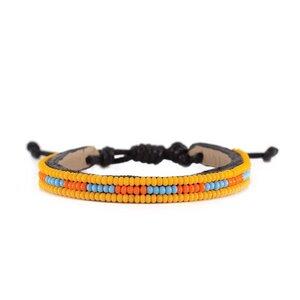 Massai Armband - Leder & Glasperlen - Viele Farben / 3 Row - Unisex - Ubuntu.Life