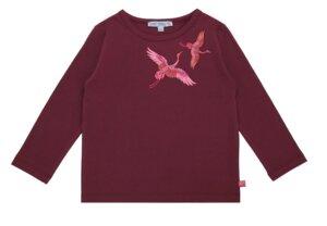 Shirt longsleeve Kraniche bordeaux - Enfant Terrible