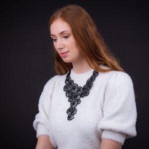 Daisy vegane Statement Halskette aus recyceltem Kautschuk - Paguro Upcycle
