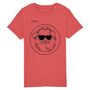 Bedrucktes Kinder T-Shirt (Gr. 98-116) aus Bio-Baumwolle LOGO - karlskopf