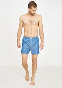 Gestreifte Herren Boxershorts #STRIPES aus Bio Baumwolle blau - recolution