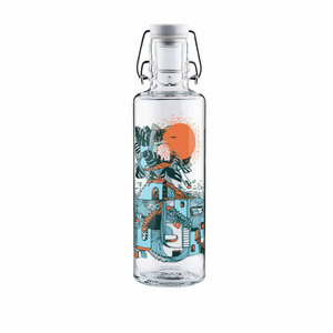 Soulbottle Trinkflasche 0,6l Waterfall city - soulbottles