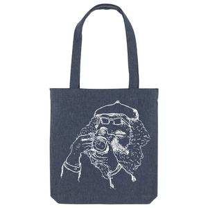 Bedruckte Shopper Tasche aus recycelter Baumwolle FOTOGRAF - karlskopf