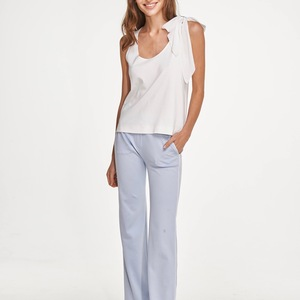 BIO PJ Set (Blau Hose + Weiss Top) - Slow Nature Organic