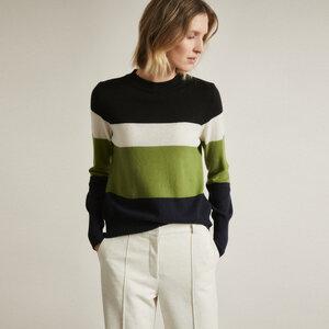 Colourblock Pullover aus Bio-Merinowolle - LANIUS