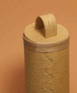 Kaffeedose aus natürlicher Birkenrinde - sagaan