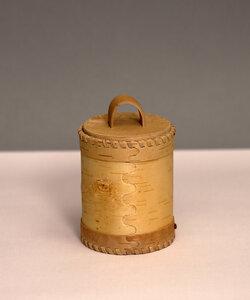Große Teedose aus natürlicher Birkenrinde - sagaan