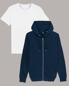 Kombi Set aus Hoodie Jacke und Basic T-Shirt - YTWOO
