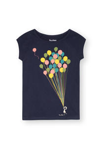 Damen T-Shirt Balloons Girl Bio Fair - FellHerz