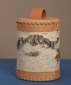 Müslidose aus Birkenrinde natur weiß - sagaan