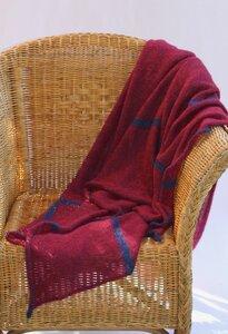 großes Mohairplaid Sue mit Karostreifen - Susan's Fashion