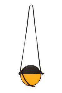 Kleine Runde Schultertasche MONA aus Leder von ElektroPulli - ELEKTROPULLI