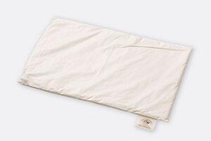 Flaches Kissen für Kinder aus reiner Schafschurwolle und Baumwolle - Villgrater Natur