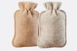 Wärmflaschenbezug aus 100% Schafschurwolle - Villgrater Natur