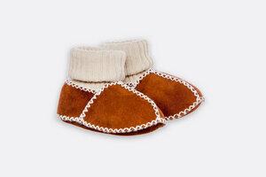 Babyschuhe für den Winter mit Lammfell und Wolle - Villgrater Natur