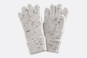 Fingerhandschuhe aus 100% Schafschurwolle - mit/ohne Lederbesatz - Villgrater Natur