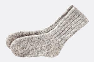 Exklusive, echt Schafwollsocken - aus 100% reiner Schafschurwolle - Villgrater Natur