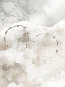 Kreole aus 925 Sterling Silber mit Facetten Effekt - Crystal and Sage