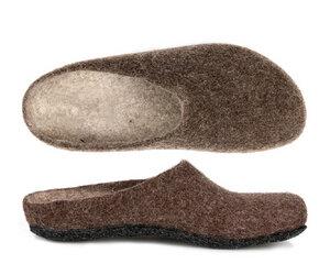 Magicfelt Filz Hausschuh, Filzpantoffel  aus 100 % Schurwolle (Merinowolle) Modell AN-709 - Gottstein Österreich