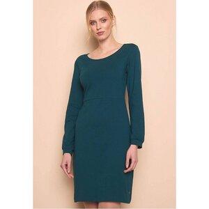 Weiches Jersey Frauen Kleid pine green Klassiker - TRANQUILLO
