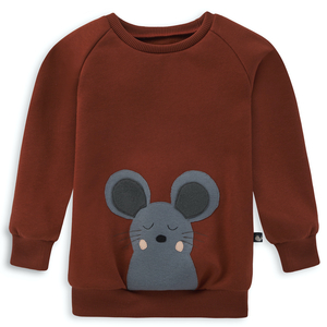Kinder Sweatshirt Maus - internaht