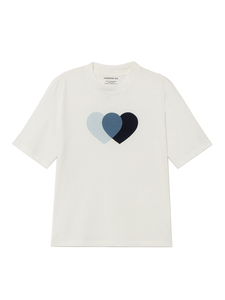 Blue Hearts Mock T-Shirt - thinking mu