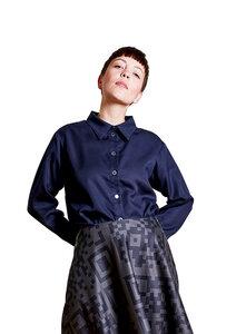 Unisex Shirt Lui, Navy - Unisex Hemd aus Tencel - Sophia Schneider-Esleben