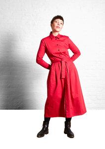 Dress Marie, Red - Damenkleid aus Bio-Baumwolle - Sophia Schneider-Esleben