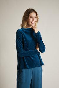 Nicki-Langarmshirt (GOTS) mit angeschnittenem Stehkragen aus Bio-Baumwolle  - LANIUS