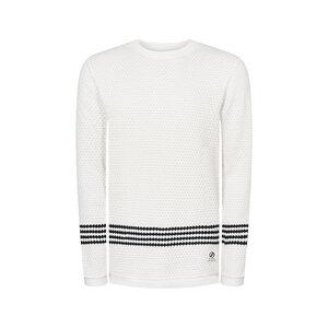 Wavestripe Pullover Weiß - bleed