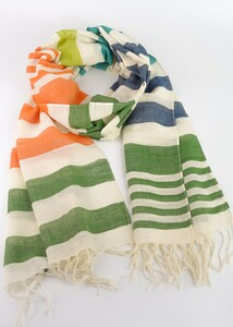 Handgewebtes Tuch aus Indien 50X175cm - Green Size