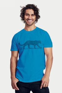 Bio-Herren-Kurzarmshirt Leopard - Peaces.bio - handbedruckte Biokleidung