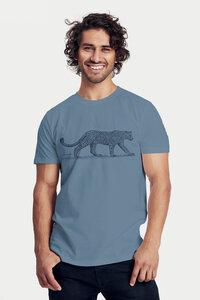 Bio-Herren-T-Shirt Leopard - Peaces.bio - handbedruckte Biokleidung