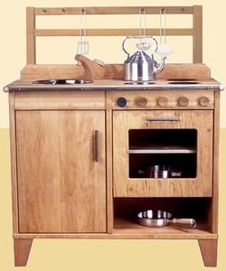 Kinderküche Millenium aus Holz Erle geölt wunderschön verarbeitet - Schöllner