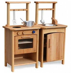 Kinderküche Premium aus Holz Erle geölt wunderschön verarbeitet - Schöllner