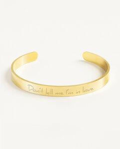 Armreif Statement »Don't kill me I'm in love« | Edelstahl in d. Farben Gold, Silber oder Roségold - Oh Bracelet Berlin
