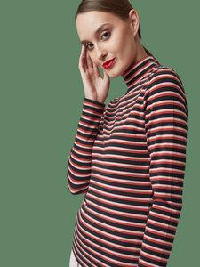 """Frauen Rollkragen aus Bio-Baumwolle """"Stand Up"""" stripes - Mademoiselle YéYé"""
