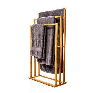XL Handtuchhalter / Handtuchständer aus 100% Bambus - Bambuswald