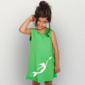 Meerjungfrau Kinderkleidchen - HANDGEDRUCKT