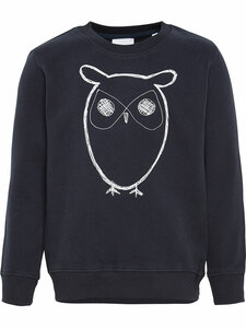 KnowledgeCotton Jungen Sweat-Shirt Owl reine Bio-Baumwolle - KnowledgeCotton Apparel
