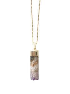 Little Spike - vergoldete Amethyst Halskette - Crystal and Sage