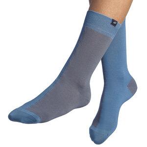 Bunte zweifarbige Socken aus Bio-Baumwolle für Männer und Frauen - Blau / Grau - MINGA BERLIN