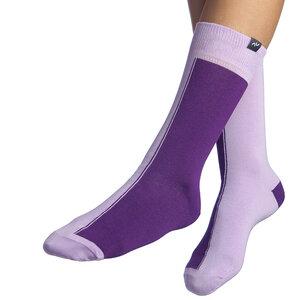 Bunte zweifarbige Socken aus Bio-Baumwolle für Männer und Frauen - Violett / Lila - MINGA BERLIN