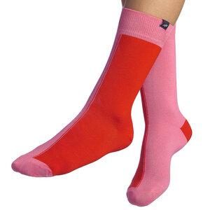 Bunte zweifarbige Socken aus Bio-Baumwolle für Männer und Frauen - Rosa / Hellrosa - MINGA BERLIN