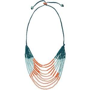 Upcycling Halskette Afrika - Namib Multi & Azonto Melon - Glasperlen - Global Mamas - Global Mamas